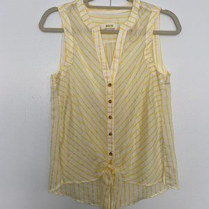 Anthropologie | Maeve Striped Tie Front Shirt 2